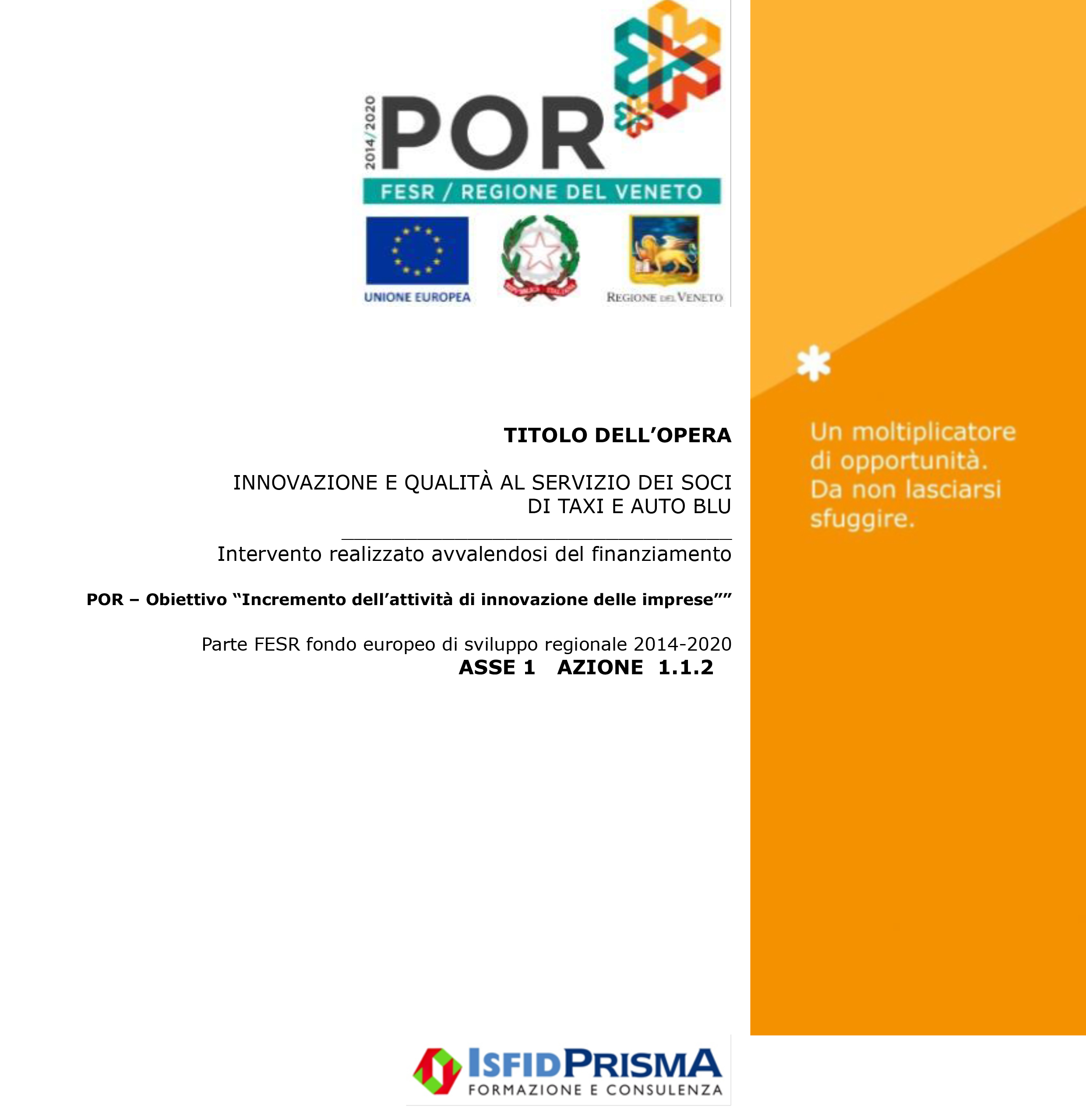 NCC Transfer Verona - taxiautoblu.it - POR FESR/Regione del Veneto